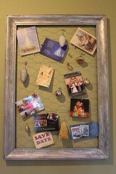 Miss Kopy Kat...Framed Chicken Wire Christmas Card Display DIY ...
