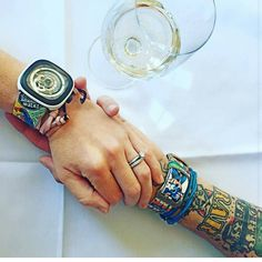 I have the best customers in the world. Look at that pic from @emiliebrabonhames and @chiefbrabon with their new Lionstraps.  #handmade #handcrafted #luxury #unique #oneofakind #accessories #watchstrap #straps #fashion #manfashion #strap #bespoke #leather #leathercraft #custom #watch #timepiece #horology #wristcandy #wristshot #wristporn #sevenfriday #panerai #comic #hulk #spiderman #captainamerica #handinhand #together by lionstraps
