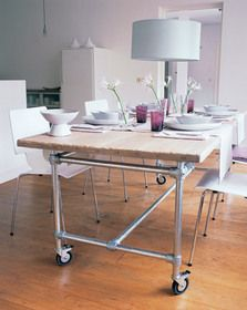 scaffolding table for outside