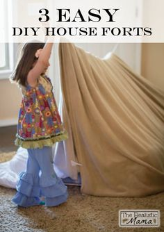 Check out these 3 Easy DIY Forts made from common household items and start having simple, wholesome fun with your little ones today!