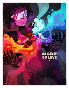 Garnet Fusion - Sapphire and Ruby Steven Universe