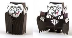 Halloween Special - Dracula Paper Toy - by Tougui - via Paper Toy France == A very coll paper toy made by designer Tougui exclusively for Paper Toys France website. Dracula, Diy Origami, Origami Paper, Freddy Krueger, Arya Stark, Paper Toys Making, Hallowen Ideas, Cardboard Design, Puppet Toys
