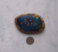 Fish Pond 5  Ideal for a fairy garden/plant pot  Photo makes object appear darker than it really is