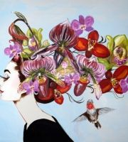 Blooming Orchid Hat Audrey