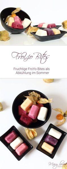 Fruchtige FroYo Bites als leichte Abkühlung im Sommer - Frozen Yogurt Bites - Eispralinen - gefrorene Joghurthäppchen