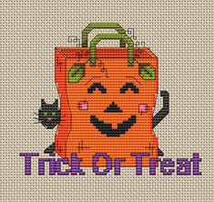Create a fun Jack O' Lantern picture with our free cross stitch pattern from Craftown.