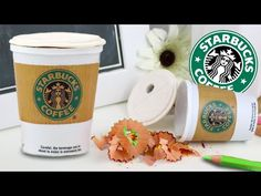 DIY | Back To School Supplies - Starbucks Pencil Sharpener (Coffee Cup) - YouTube