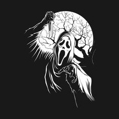 Shop Ghost Moon scream t-shirts designed by gastaocared as well as other scream merchandise at TeePublic. Scary Movies, Horror Movies, Horror Movie Tattoos, Scream Movie, Horror Artwork, Graffiti, Ghost Faces, Horror Icons, Arte Horror