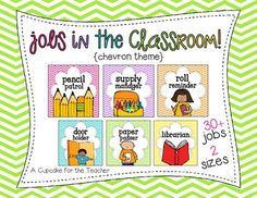 jobs in the classroom! Decorate your classroom in bright chevron!