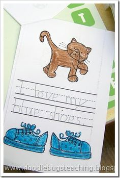 I love my shoes book {free download} www.doodlebugsteaching.blogspot.com