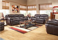 Shop for a Montoro Place Coffee Leather  3 Pc Living Room at Rooms To Go. Find Leather Living Rooms that will look great in your home and complement the rest of your furniture.