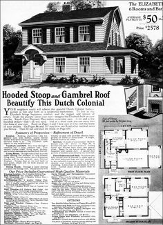 Dutch Colonial Revival - Traditional Kit House Plan - 1923 Sears ...