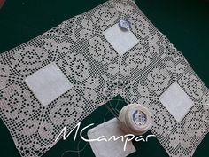 Lino e filet Crochet Doily Diagram, Crochet Squares, Filet Crochet, Crochet Doilies, Crochet Lace, Drawn Thread, Crochet Tablecloth, Chrochet, Beautiful Crochet
