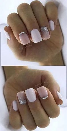 50 Stylish Acrylic White Nail Designs and Ideas 2019 # hair ., 50 Stylish Acrylic White Nail Designs and Ideas 2019 # hair White Nail Designs, Acrylic Nail Designs, Stylish Nails, Trendy Nails, Weihnachten Make-up, Hair And Nails, My Nails, Gel Nagel Design, White Acrylic Nails