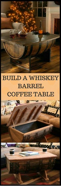 Plans of Woodworking Diy Projects - Creative Beginners Friendly Woodworking DIY Plans At Your Fingertips With Project Ideas, Tips and Tricks Get A Lifetime Of Project Ideas & Inspiration! Barrel Furniture, Diy Furniture, Building Furniture, Furniture Projects, Furniture Plans, Bedroom Furniture, Asian Home Decor, Diy Home Decor, Whiskey Barrel Coffee Table