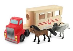 Horse carrier horses, play sets, horse trailers, wooden toys, wood toy, vehicl play, hors carrier, gift idea, wooden vehicl