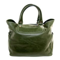 fb6a2f80c9 Celine Bottle Green Leather Shopper Style Boogie Bag Fall Bags