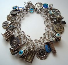 eCharmony Charm Bracelet Collection - Athens Greece Greek Charms - Click Image to Close
