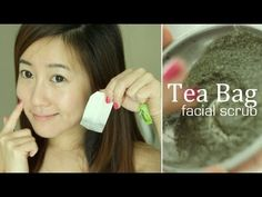 DIY Green Tea Bag Face Scrub. Make your own exfoliating face scrub with a teabag. Next time you make green tea, don't throw away your teabag. Buff away dead skin cells and unclog pores for a polished smooth skin.