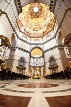 The altar inside the Duomo in Florence Italy