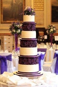 Purple Wedding Cake inspiration by noemi.gonzalez.56884