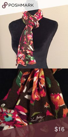Vera Bradley English Rose Print Scarf Gorgeous knit scarf from VB! This is not the sheer fashion scarf, it is the warm knit one. Mint condition. No trades. Vera Bradley Accessories Scarves & Wraps