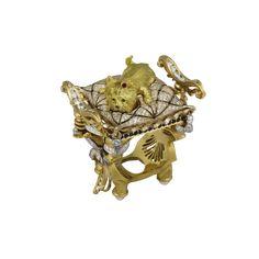 """York"" Dog Jewelry, Animal Jewelry, Jewelry Rings, Jewelry Ideas, Jewellery, Latest Gold Ring Designs, Ancient Romans, Luxury Jewelry, Black Diamond"