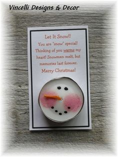 Snowman Votive Candle - Set of 4