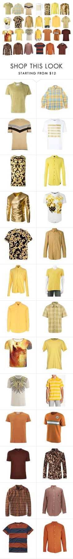 """""""Men's shirts #4"""" by asherthecrimsonfox ❤ liked on Polyvore featuring Our Legacy, tuktuk, River Island, Palm Angels, Versace, Drumohr, Ann Demeulemeester, Givenchy, SONRISA and Urban Pipeline"""