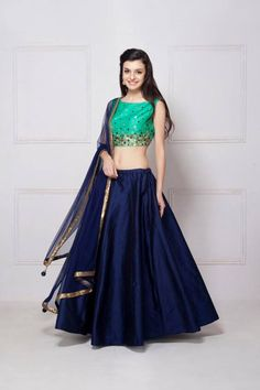 Youdesign Art Silk Lehenga Choli In Blue Colour Size Upto 66 Pakistani Dresses, Indian Dresses, Indian Outfits, Indian Clothes, Indian Attire, Indian Wear, Indian Style, Indian Lehenga, Blue Lehenga