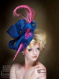 Hey, I found this really awesome Etsy listing at https://www.etsy.com/listing/160345014/kentucky-derby-hat-haute-couture-hat