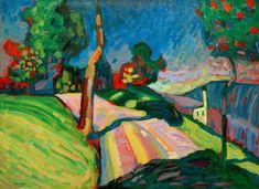 """Wassily Kandinsky - """"Murnau, Kohlgruberstrasse"""", 1909"""