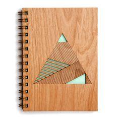Pyramid Lasercut Wood Journal
