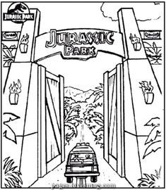 Charismatic Drawings Of Jurassic Park Gate Jurassicparkworld Charismatic Drawings Of Jurassic Jurassic Park Gate Jurassic Park Tattoo Dinosaur Coloring Pages