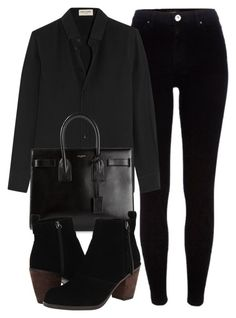 """Untitled #5186"" by laurenmboot ❤ liked on Polyvore featuring River Island, Yves Saint Laurent, Dolce Vita, women's clothing, women, female, woman, misses and juniors"