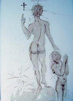 Asperges me hyssopo et mundabor, 1964, Salvador Dali