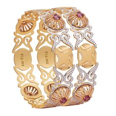 Experience our exquisite gold bangle designs & designer collections at Zar Jewels. Our bangle collection also showcases a glimpse of Italian & Turkish jewellery. Diamond Bangle, Diamond Jewelry, Gold Jewellery, Gold Bangles Design, Jewelry Design, Designer Bangles, Turkish Jewelry, Indian Jewelry, Jewelry Model