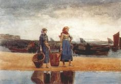 Two Girls on the Beach, Tynemouth, 1891, Winslow Homer
