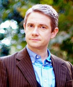 """Martin Freeman. My sisters fiancé just said something about Jude Law being Dr. Watson. I wanted to yell """"NO! Martin Freeman is John Watson!"""" But they wouldn't have gotten it....."""
