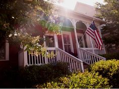American Flag...a must have for ANY front porch. #countryliving #dreamporch