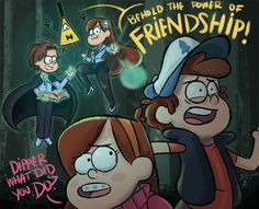 BEHOLD THE POWER OF FRIENDSHIP!<< imagine rev bill being friends with Dipper and Mabel!!