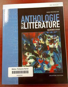 Anthologie de la littérature québécoise (C840.8 P969a) Album, Photo And Video, Cover, Books, Documentaries, Livres, Libros, Book, Book Illustrations