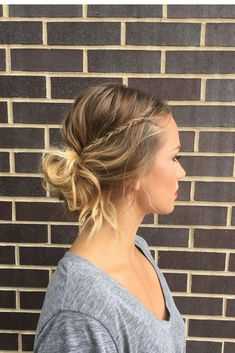 this messy bun + fishtail accent braid is the effortless cool girl aesthetic you've been looking for@! perfect for long, medium, and short hair lengths | hair + makeup by goldplaited