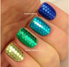 Sexy sparkle short bling nails green blue gold turquoise