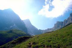 Climbing up the Galdhopiggen