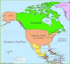 Resultado de imagen para mapa de norteamérica