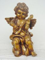 Angel Standing with Guitar