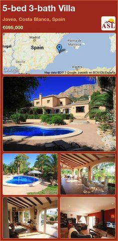 5-bed 3-bath Villa in Javea, Costa Blanca, Spain ►€695,000 #PropertyForSaleInSpain