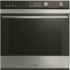 fisher u0026 paykel built in electric single oven black