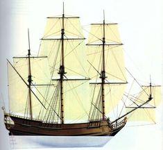 18th Century Ship Types | Colonial Merchant Ships 17th century merchant ship
